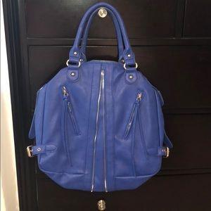 Blue Leather Urban Expressions Shoulder Bag